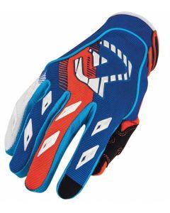 MX X1 Glove Blue/Flo Orange