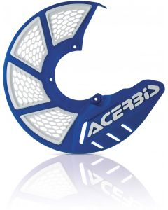X-BRAKE DISC COVER VENTED BLUE/WHITE