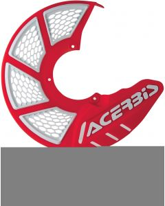 X-BRAKE DISC COVER VENTED RED/WHITE