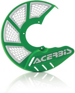 X-BRAKE DISC COVER VENTED GREEN/WHITE