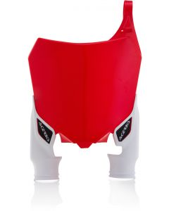 Honda Raptor front plate red with white socks CRF250 14/17 CRF450 13/16
