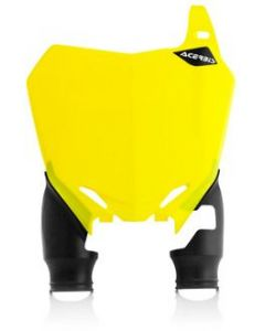 Raptor Front Number Board Yellow with Black Socks