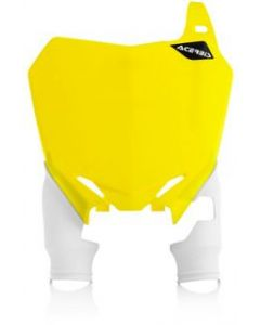 Raptor Front Number Board Yellow with White Socks
