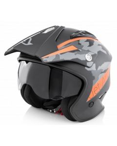 JET ARIA HELMET BLACK/ORANGE