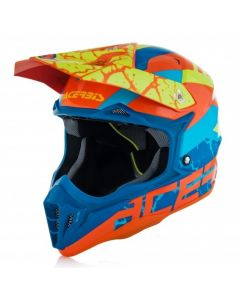 IMPACT 3.0 HELMET FLO ORANGE/BLUE