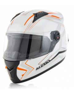 FS 807 FULL FACE HELMET WHITE/ FLO ORANGE