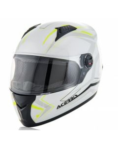 FS 807 FULL FACE HELMET WHITE/FLO YELLOW