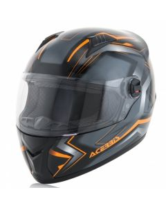 FS 807 FULL FACE HELMET BLACK/FLO ORANGE
