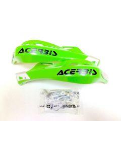 Handguards Rally Brush 2 Impact Green (inc mount kit)