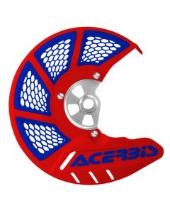 X-BRAKE DISC COVER VENTED RED/BLUE