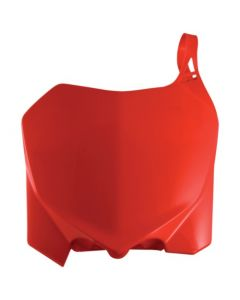 0013147 Acerbis Front Number Plate Honda CRF 250 R - 10/13 Colour: RED